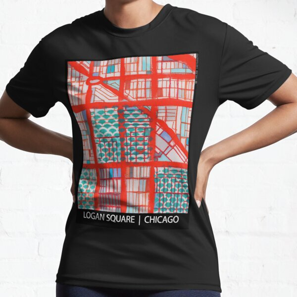 Logan Square, Chicago Active T-Shirt