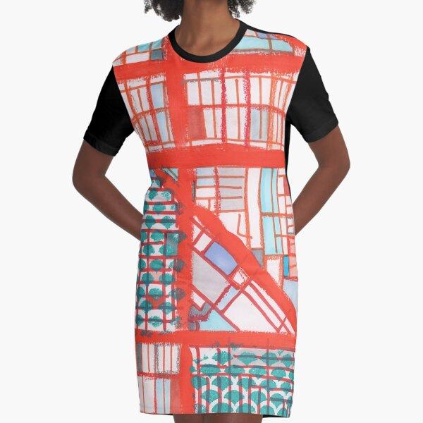 Logan Square, Chicago Graphic T-Shirt Dress