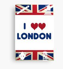 I Love London - Whovian Edition Canvas Print