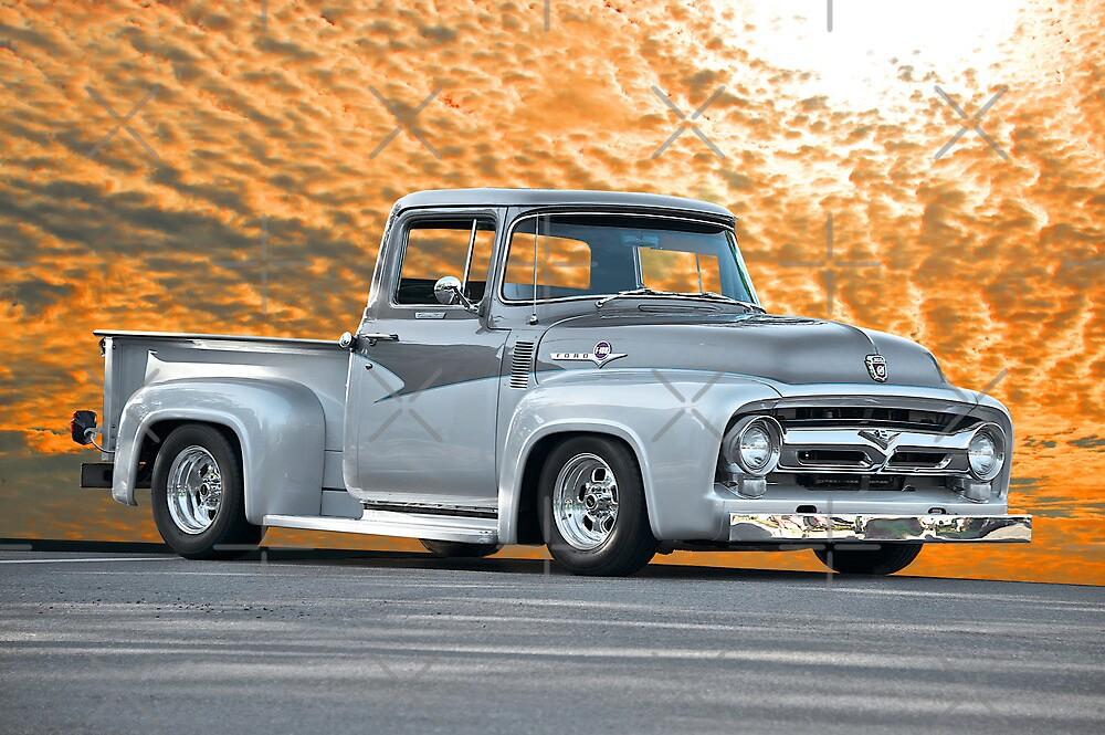 1956 Ford F100 Custom Pick-Up Truck IV by DaveKoontz