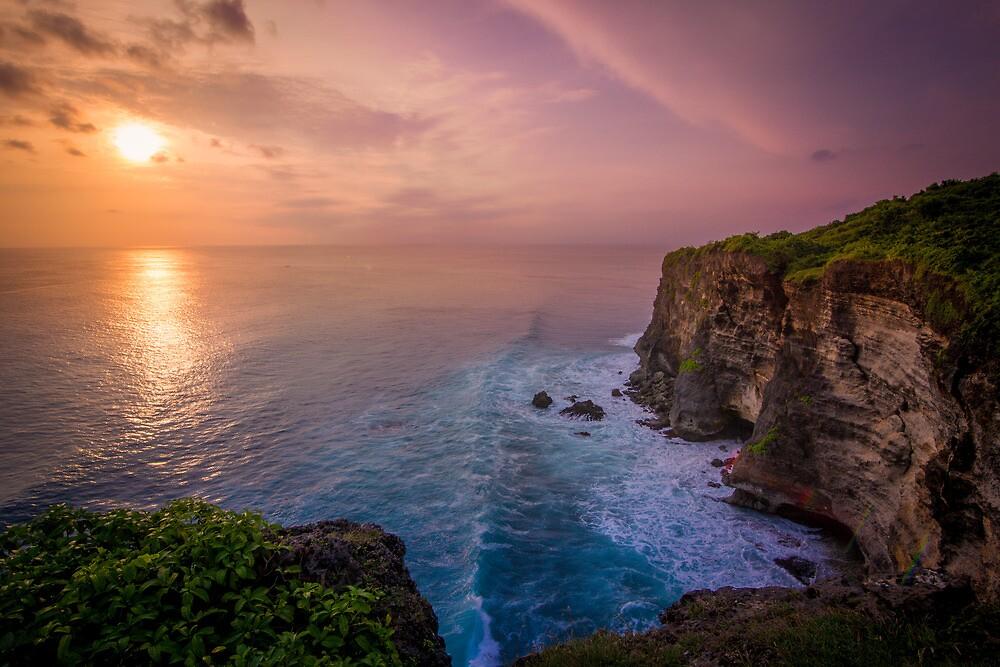 Uluwatu Cliff Sunset by andrewsparrow