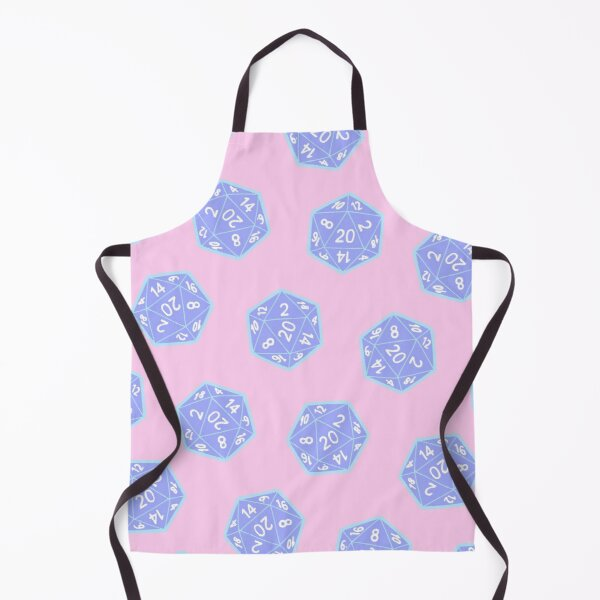 Twenty Sided Dice Pattern in Pastels Apron