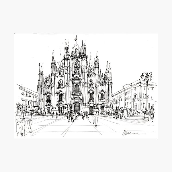Duomo di Milano - schizzo Photographic Print