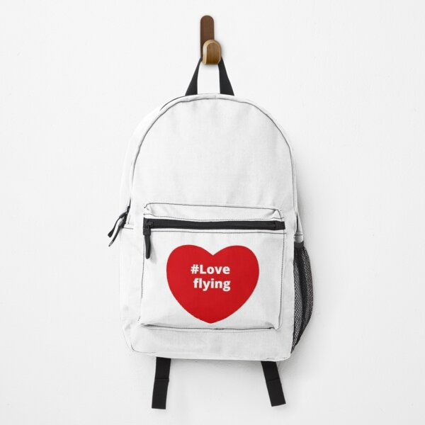 Love Flying - Hashtag your i Love Heart  Backpack