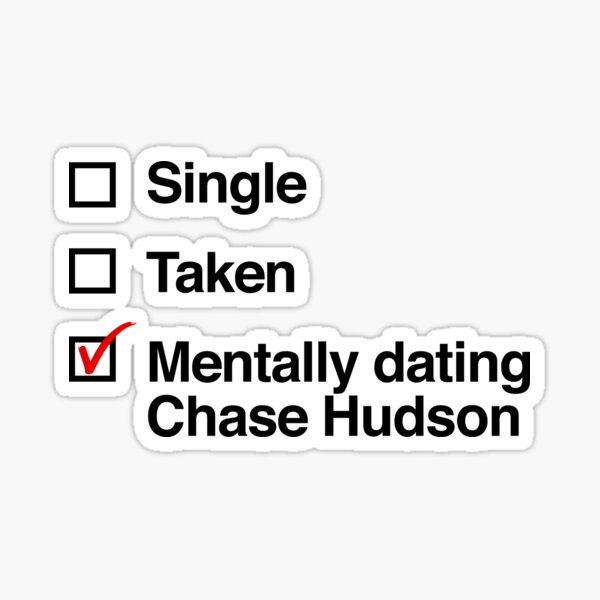 Rencontres mentales Chase Hudson Sticker