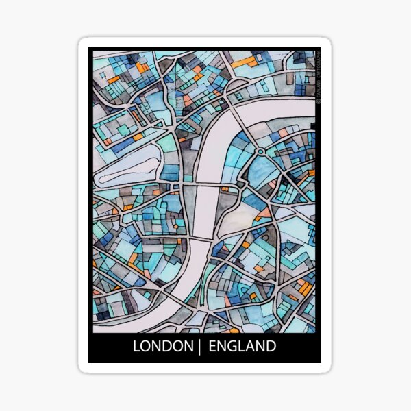 London, UK Sticker