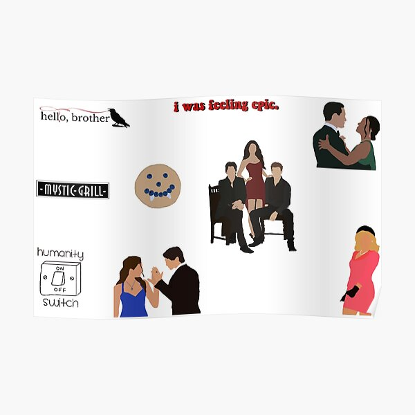 tvd sticker pack Poster