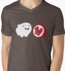 Pomeranians & Pomegranates  Men's V-Neck T-Shirt