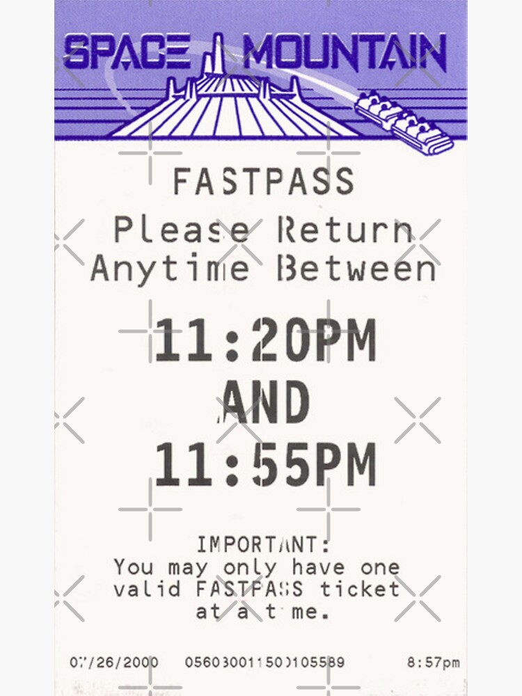 Space Mountain Fastpass by SophiaKno