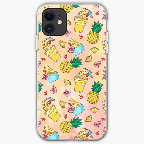 Pineapple Whip Pattern (Warm Tones) iPhone Soft Case
