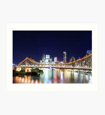Brisbane CBD Skyline @ Night Art Print
