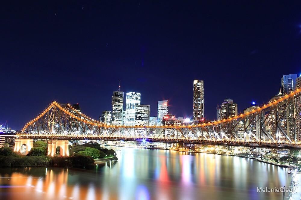 Brisbane CBD Skyline @ Night by MelanieCleal