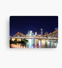 Brisbane CBD Skyline @ Night Canvas Print
