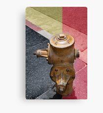 sunset fire hydrant Canvas Print