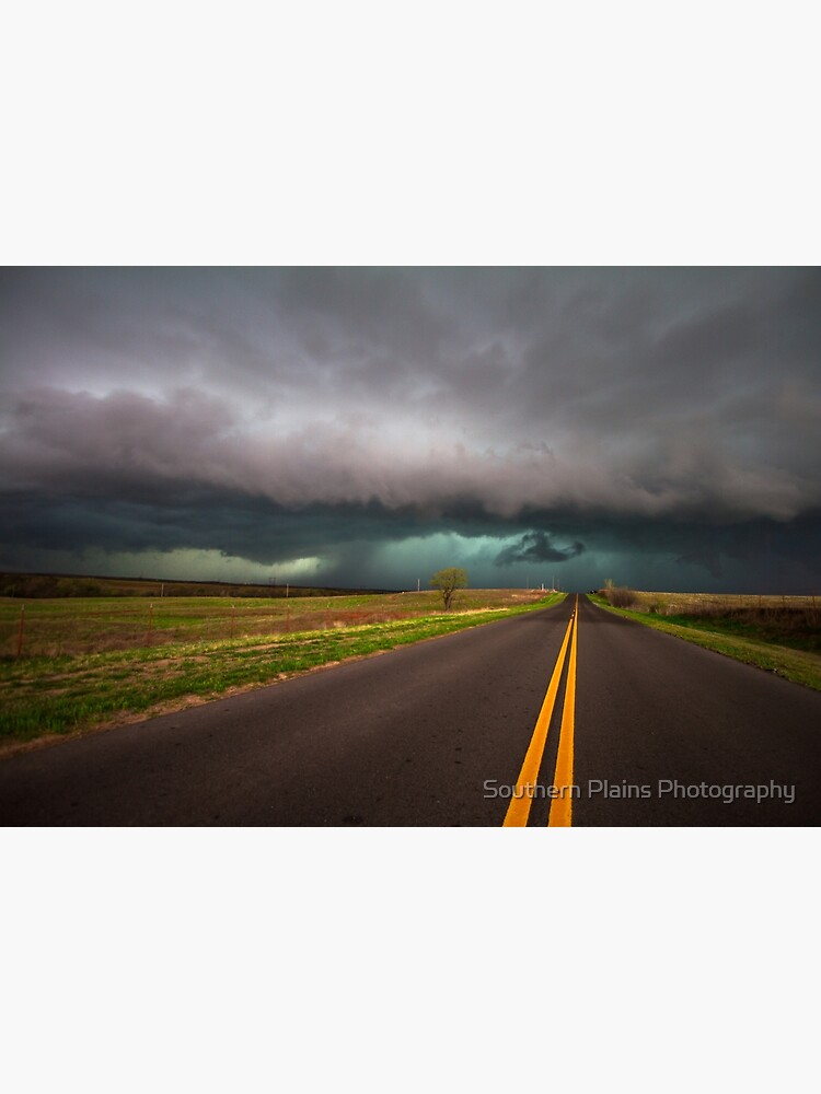 On the Road - Highway Leads Into Intense Storm in Oklahoma by SeanRamsey