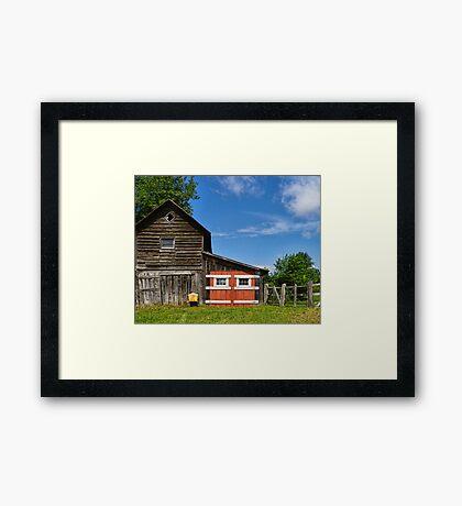 Rest A Spell at the Barn Framed Print