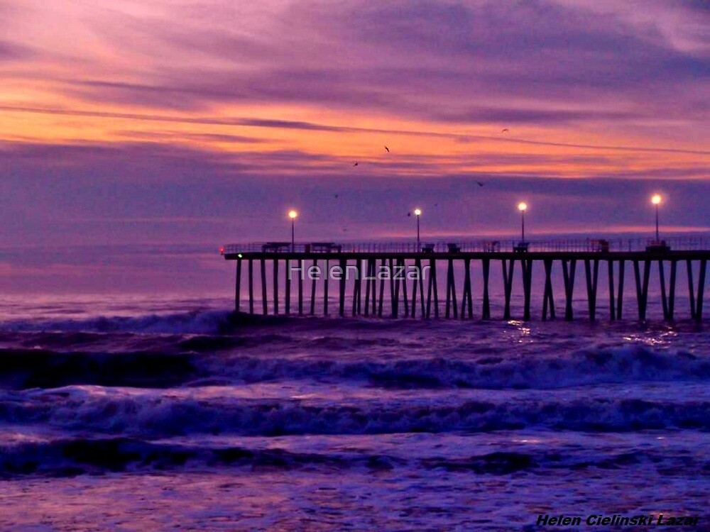 Ventnor Pier at Sunrise by HelenLazar