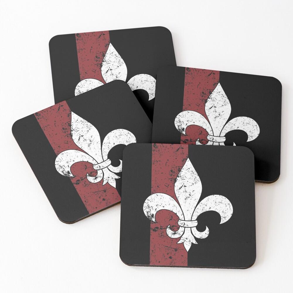 Fleur De Lis Coasters (Set of 4)