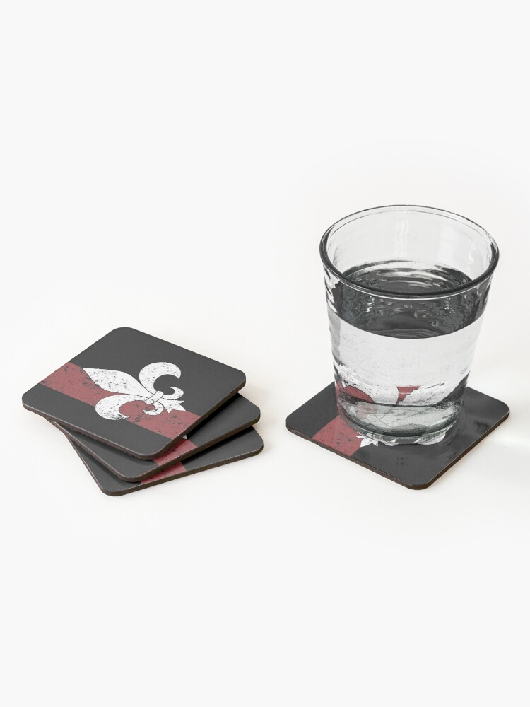 Alternate view of Fleur De Lis Coasters (Set of 4)