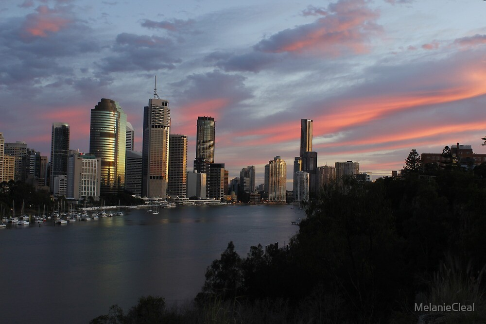 Brisbane CBD Skyline by MelanieCleal