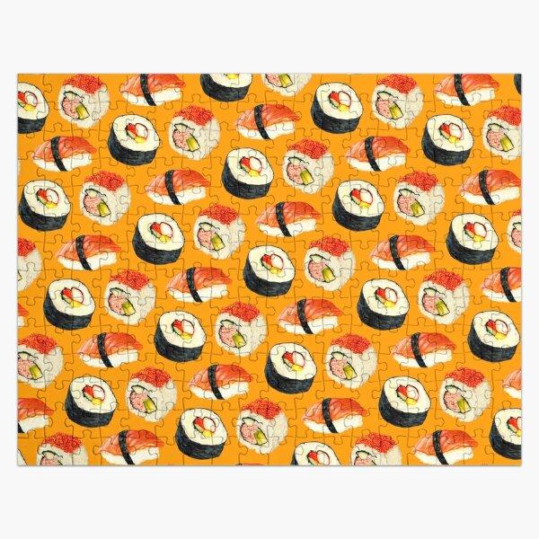 Sushi Pattern - Orange Jigsaw Puzzle