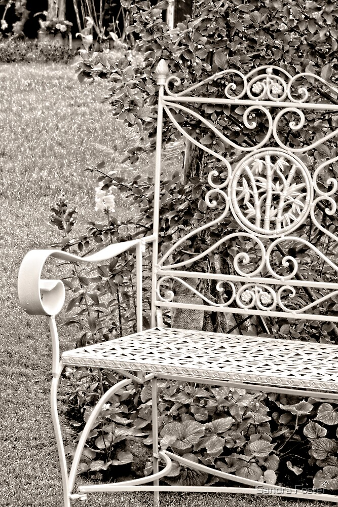Vintage Looking Chair - Digital Oil by Sandra Foster