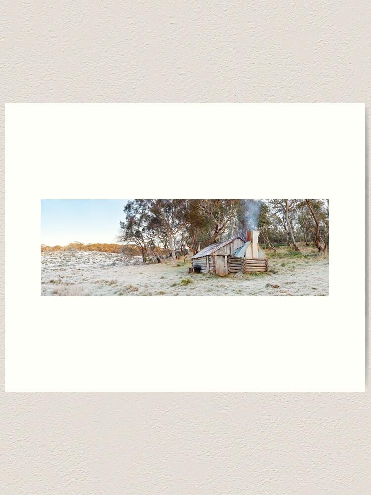 Alternate view of Frosty Guys Hut, Alpine National Park, Victoria, Australia Art Print
