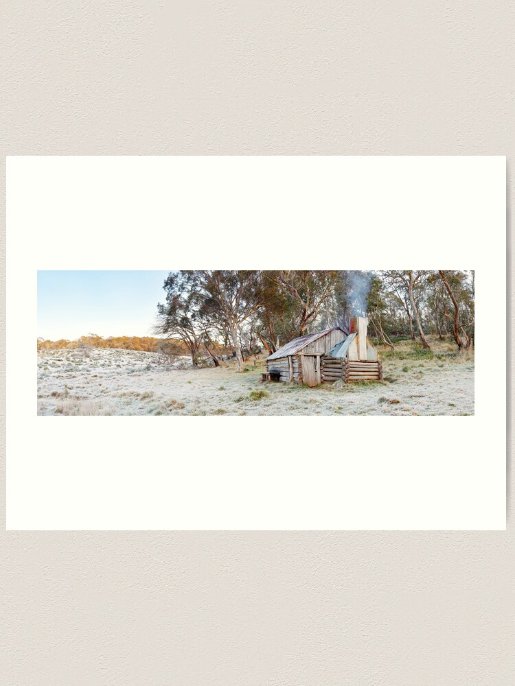 Alternate view of Frosty Guys Hut, Alpine National Park, Victoria, Australia Art Print