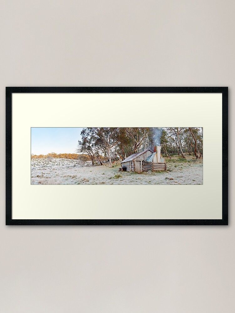 Alternate view of Frosty Guys Hut, Alpine National Park, Victoria, Australia Framed Art Print