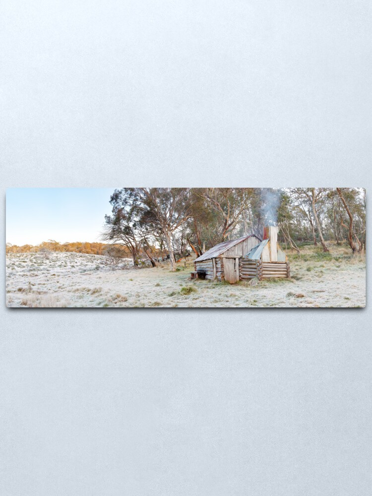 Alternate view of Frosty Guys Hut, Alpine National Park, Victoria, Australia Metal Print