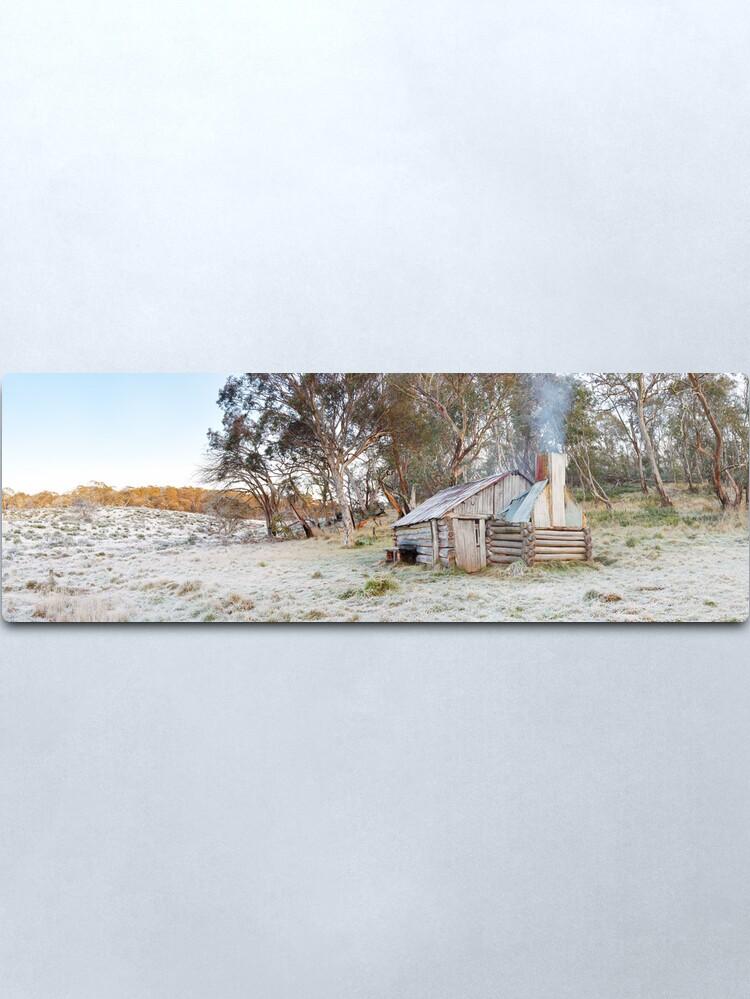 Alternate view of Frosty Guys Hut, Alpine National Park, Victoria, Australia Metal Print