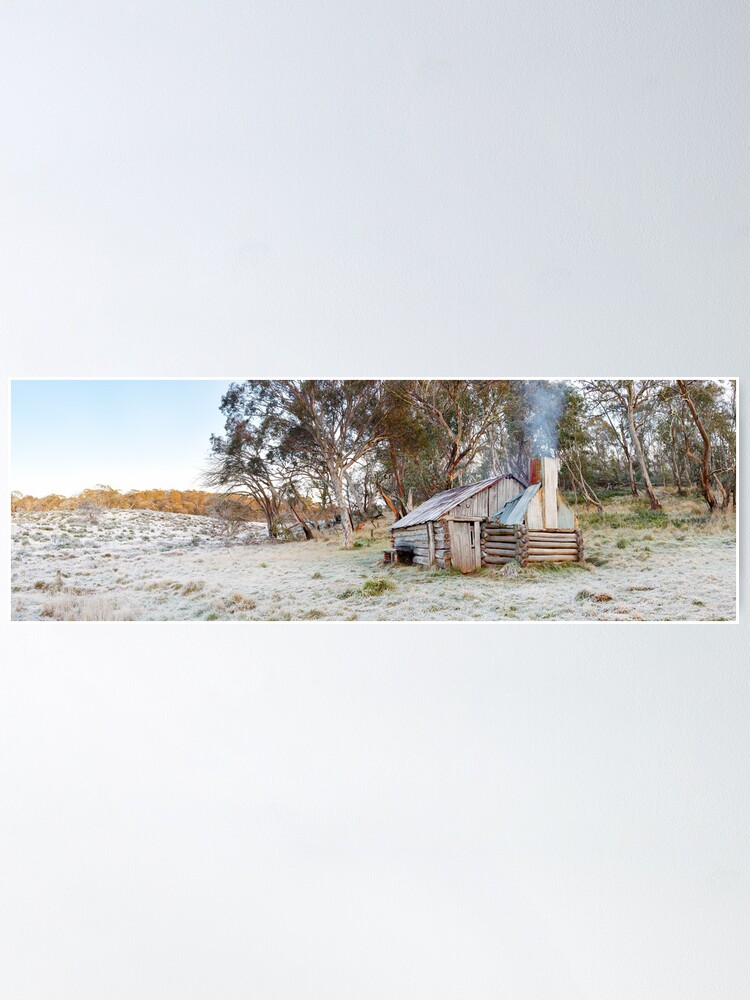 Alternate view of Frosty Guys Hut, Alpine National Park, Victoria, Australia Poster