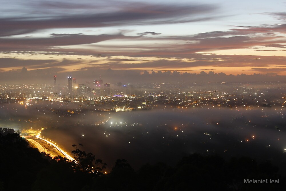 Brisbane from Mt Cootha by MelanieCleal
