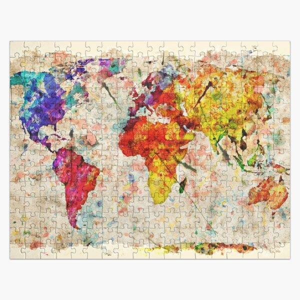 Vintage World Map Jigsaw Puzzle