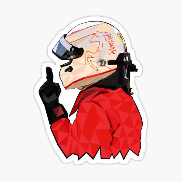 Sebastian Vettel low poly art Sticker