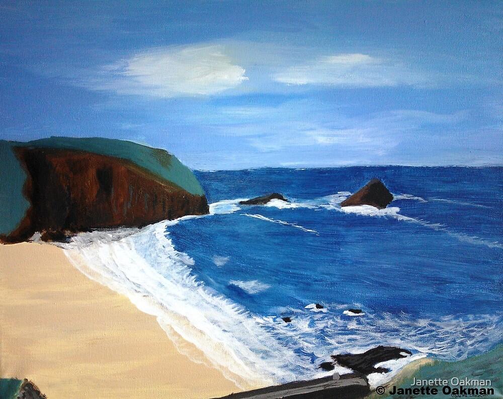 Cornish Tide - Acrylic Painting by Janette Oakman