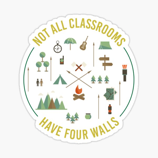 Worldschool Homeschool Not All Classrooms Have Four Walls Sticker