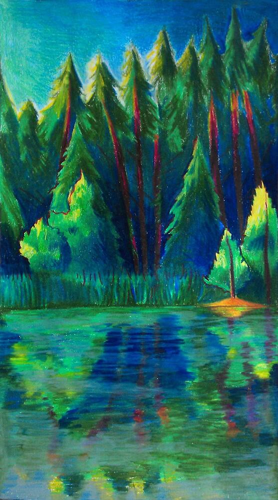 The Lake through a Prism by Jodediah
