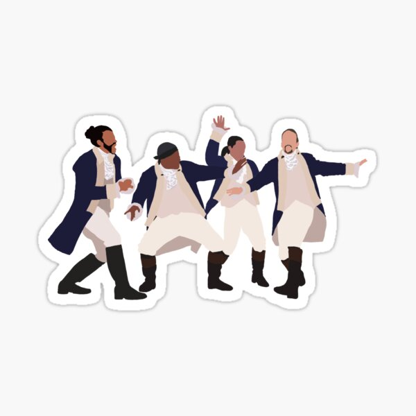 Hamilton, rise a glass to freedom Sticker