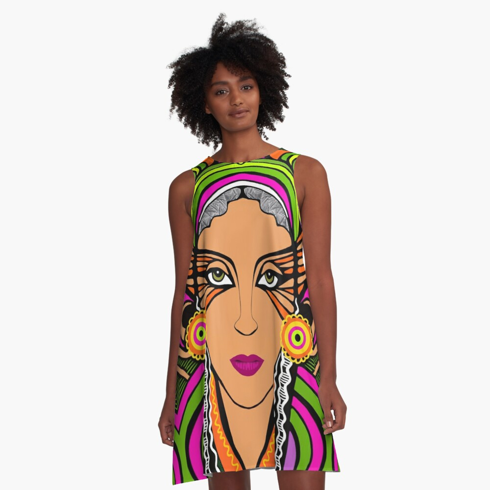 The Witch of Babylon A-Line Dress
