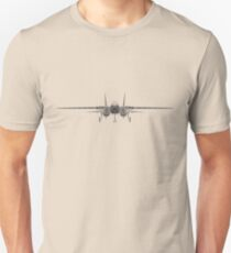 Grumman F-14 Tomcat Front View Slim Fit T-Shirt