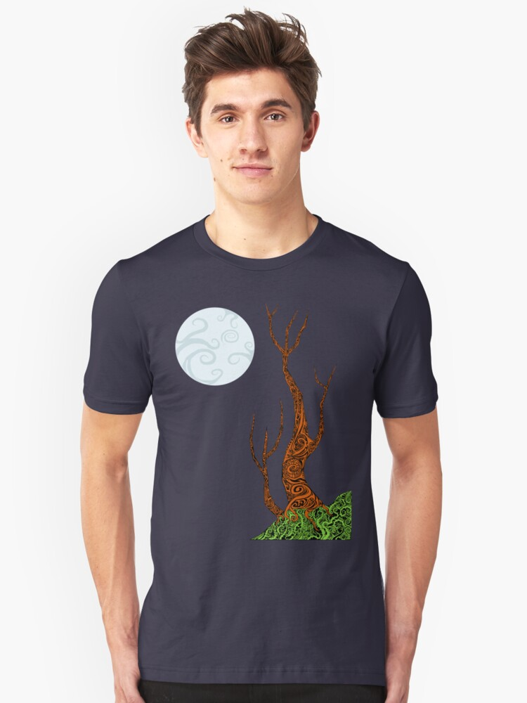 Under the Moon Tribal style Unisex T-Shirt Front