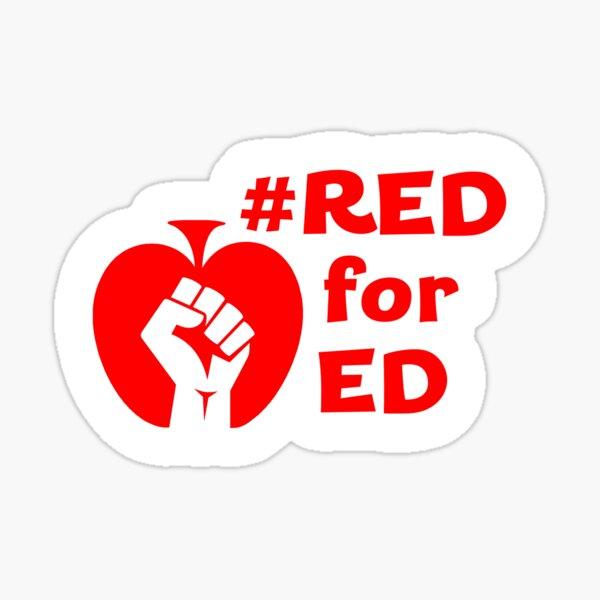 RedforEd Blank Fist Red Words Sticker