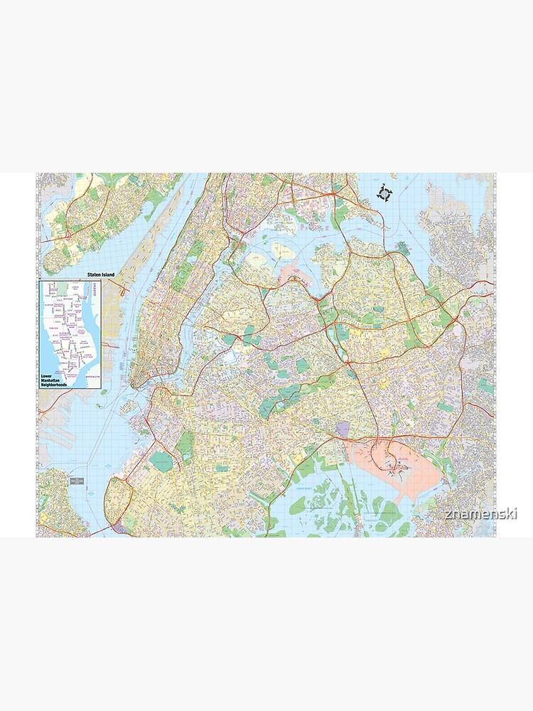 New York City Map by znamenski