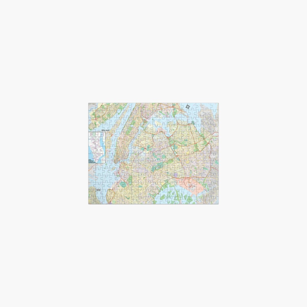 New York City Map Jigsaw Puzzle