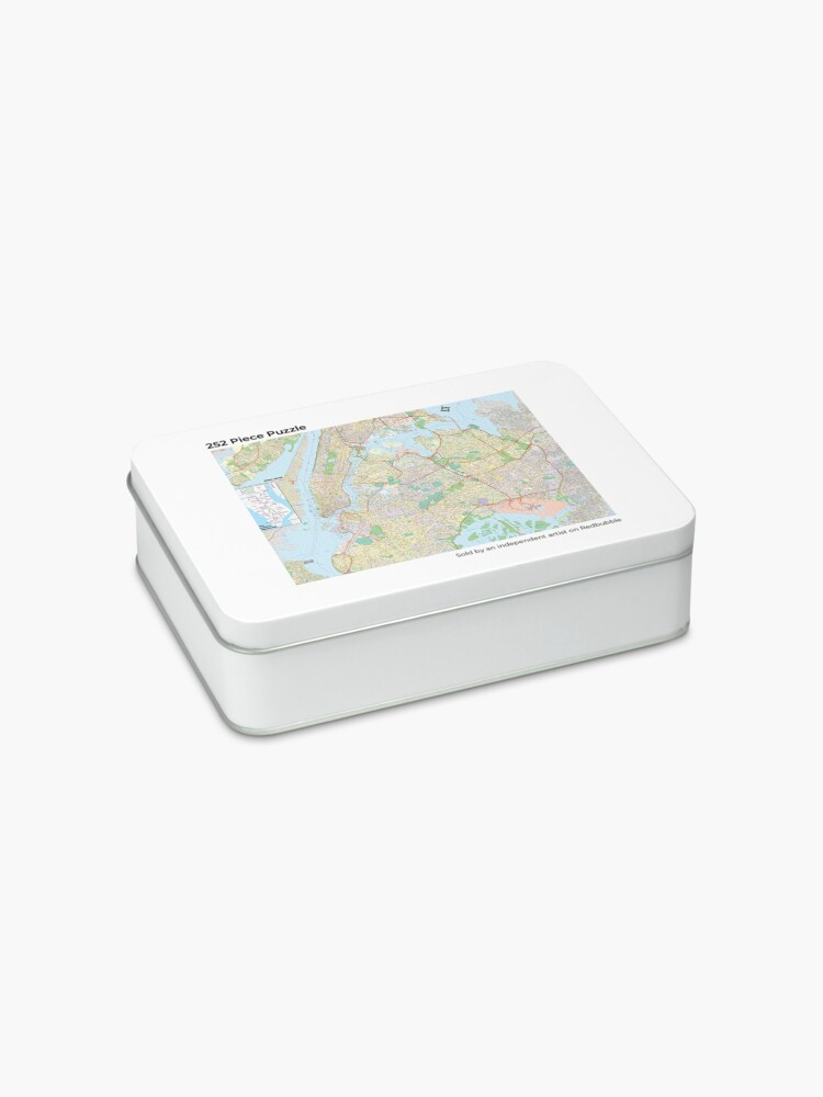 Alternate view of New York City Map Jigsaw Puzzle