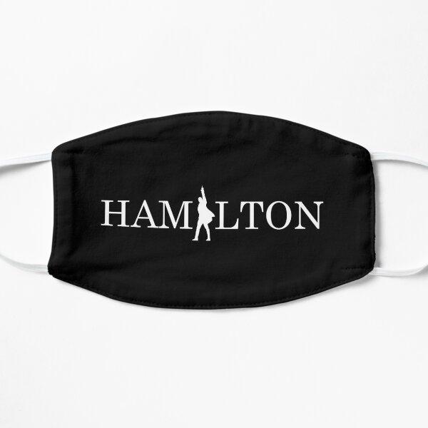 Hamilton text logo masks and tee-shirts Flat Mask