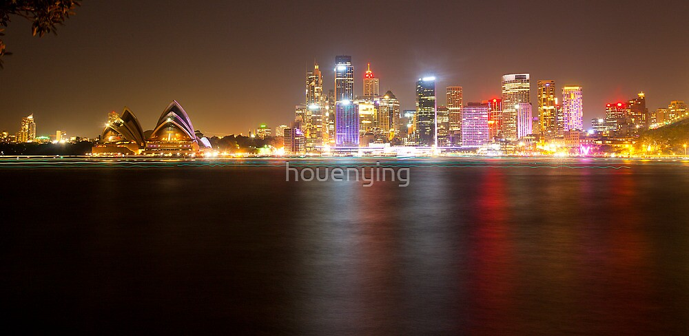 the city night view by houenying