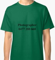 Photographer Tee Classic T-Shirt
