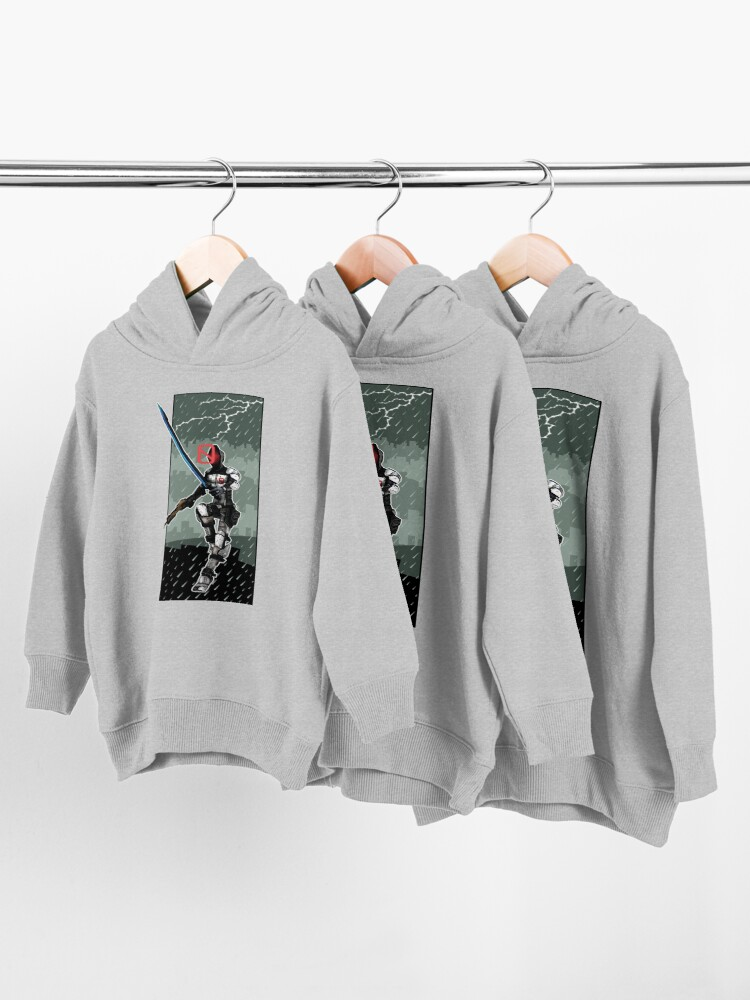 Alternate view of Zer0 The Assassin Borderlands Lighting And Rain Toddler Pullover Hoodie